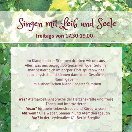 Singen mit Leib und Seele, Freitagskurs